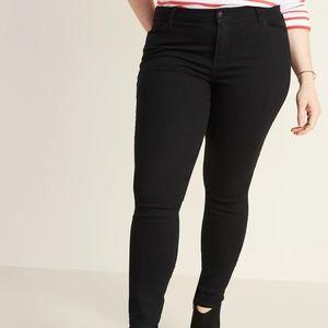 Mid-Rise Skinny Black Jeans